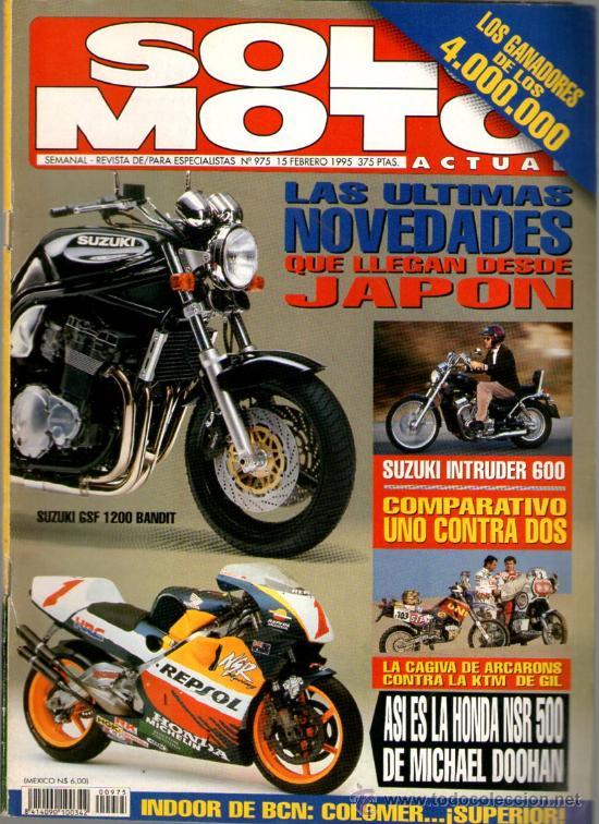SOLO MOTO ACTUAL Nº 975 (02-1995) ULTIMAS NOVEDADES DE JAPON*HONDA MICHAEL DOOHAN* (Coches y Motocicletas - Revistas de Motos y Motocicletas)