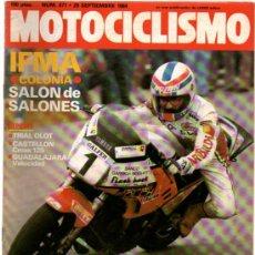 Coches y Motocicletas: MOTOCICLISMO Nº 871 (09-1984)IFMA COLONIA*TRIAL OLOT*CASTELLON CROSS 125*GUADALAJARA VELOCIDAD. Lote 32053374