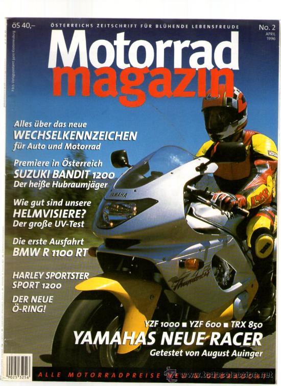 MOTORRAD MAGAZIN Nº 2 (APRIL 1996) REVISTA EN ALEMÁN - SUZUKI BANDIT - BMW R 1100 RT (Coches y Motocicletas - Revistas de Motos y Motocicletas)