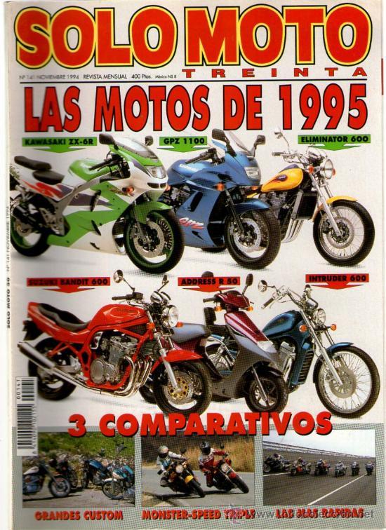 SOLO MOTO TREINTA Mº 141 (11-1994) LAS MOTOS DEL AÑO 1995 (Coches y Motocicletas - Revistas de Motos y Motocicletas)