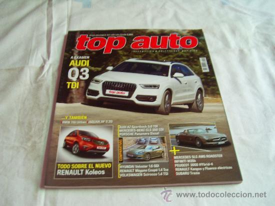 TOP AUTO Nº 265: AUDI Q3 TDI, RENAULT COLEOS, PEUGEOT 3008, HYUNDAI VELOSTER, RENAULT MEGANE COUPÉ, (Coches y Motocicletas - Revistas de Motos y Motocicletas)