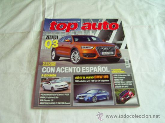 TOP AUTO Nº 262: AUDI Q3, KIA PICANTO, HONDA FCX, FIAT FREEMONT, JAGUAR XF 2012, CR (Coches y Motocicletas - Revistas de Motos y Motocicletas)