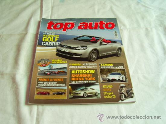 TOP AUTO Nº GOLF CABRIO, PORSCHE CARRERA GTS, BMW 650 COABRIO, JAGUAR XKR CONVERTIBLE, CR (Coches y Motocicletas - Revistas de Motos y Motocicletas)