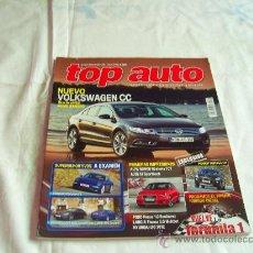 Coches y Motocicletas: TOP AUTO Nº 269: VOLKSWAGEN CC, PORSCHE 911 CARRERA S, ALFA ROMEO GIULIETTA, PEUGEOT 3008, CR. Lote 32380826