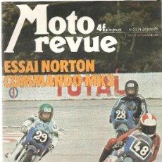 Coches y Motocicletas: MOTO REVUE 2274 NORTON 850 COMMANDO , PUBLICIDAD BENELLI 750 CM3, KREIDLER FLORETT - 24 JUNIO 1976. Lote 32512002