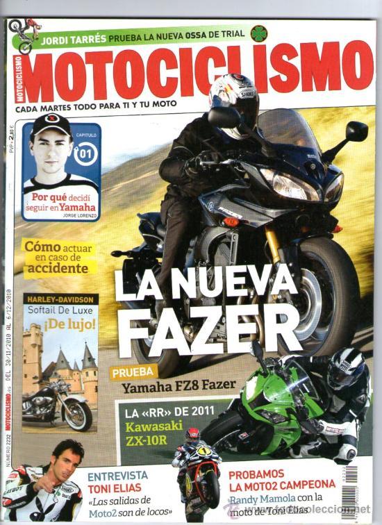 MOTOCICLISMO Nº 2232 (2010)TARRES-ELIAS-LORENZO-MARQUEZ-CAIROLI-NINJA CUP-HARLEY DAVIDSON FLSTN SOFT (Coches y Motocicletas - Revistas de Motos y Motocicletas)