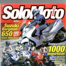 Coches y Motocicletas: SOLO MOTO TREINTA Nº 234 (08-2002) SUZUKI BURGMAN-CUSTOMS-HONDA-KAWASAKI-YAMAHA-SUZUKI. Lote 32896872
