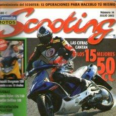 Coches y Motocicletas: SCOOTING Nº 14 (07-2002)SUZUKI-HONDA DYLAN-DAELIM DELFINO-YAMAHA T-MAX. Lote 32897153
