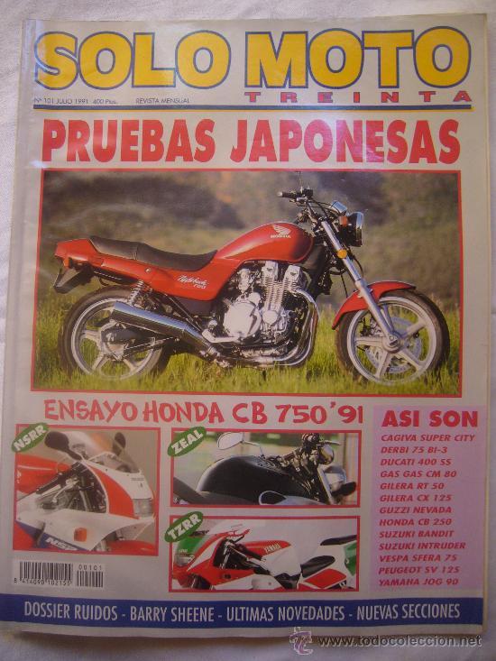 SOLO MOTO Nº 101 JUNIO 1991 PRUEBAS JAPONESAS BARRY SHENE (Coches y Motocicletas - Revistas de Motos y Motocicletas)
