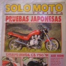 Coches y Motocicletas: SOLO MOTO Nº 101 JUNIO 1991 PRUEBAS JAPONESAS BARRY SHENE. Lote 32559641