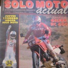 Coches y Motocicletas: SOLO MOTO ACTUAL Nº 716 ENERO 1990 GILERA RC 60 KEVIN SCHWANTZ MICHAUD GIANOLA. Lote 32571282