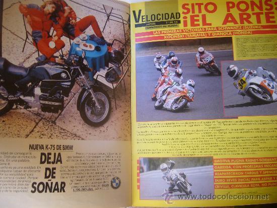 Coches y Motocicletas: SOLO MOTO ACTUAL Nº 673 MARZO 1989 SITO PONS EL ARTE HONDA CBR 6OO SAUNDERS MICHAUD - Foto 2 - 32571523