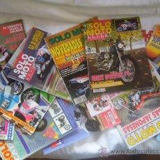 Coches y Motocicletas: LOTE 15 REVISTAS SOLO MOTO AÑOS 90 91 HARLEY YAMAHA HONDA GILERA VESPA GUZZI SUZUKI LAVERDA MORINI . Lote 32867575