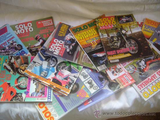 Coches y Motocicletas: LOTE 15 REVISTAS SOLO MOTO AÑOS 90 91 HARLEY YAMAHA HONDA GILERA VESPA GUZZI SUZUKI LAVERDA MORINI - Foto 2 - 32867575