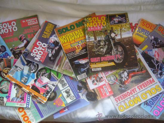 Coches y Motocicletas: LOTE 15 REVISTAS SOLO MOTO AÑOS 90 91 HARLEY YAMAHA HONDA GILERA VESPA GUZZI SUZUKI LAVERDA MORINI - Foto 3 - 32867575