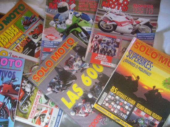 Coches y Motocicletas: LOTE 15 REVISTAS SOLO MOTO AÑOS 90 91 HARLEY YAMAHA HONDA GILERA VESPA GUZZI SUZUKI LAVERDA MORINI - Foto 5 - 32867575
