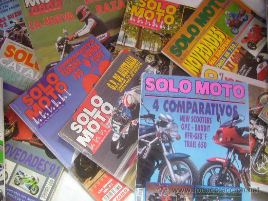 Coches y Motocicletas: LOTE 15 REVISTAS SOLO MOTO AÑOS 90 91 HARLEY YAMAHA HONDA GILERA VESPA GUZZI SUZUKI LAVERDA MORINI - Foto 6 - 32867575