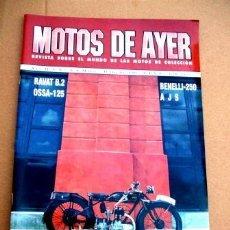 Coches y Motocicletas: REVISTA MOTOS DE AYER Nº 8. Lote 46772893