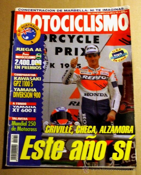 REVISTA MOTOCICLISMO ABRIL 1995 (Coches y Motocicletas - Revistas de Motos y Motocicletas)