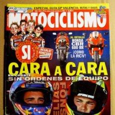 Coches y Motocicletas: REVISTA MOTOCICLISMO NOVIEMBRE 2002. Lote 32961994