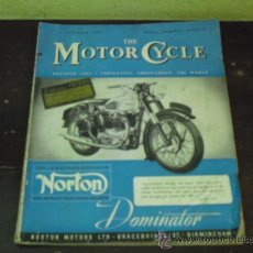 Coches y Motocicletas: THE MOTOR CYCLE - 1950 - NORTON DOMINATOR -. Lote 34268265