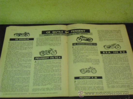 Coches y Motocicletas: MOTO REVUE Nº 1.122 AÑO 1953 - SALON DE BRUSELAS DE LA MOTO - - Foto 4 - 34332408