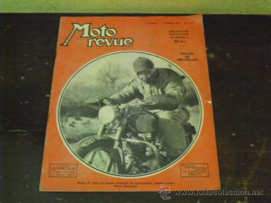 MOTO REVUE Nº 1.122 AÑO 1953 - SALON DE BRUSELAS DE LA MOTO - (Coches y Motocicletas - Revistas de Motos y Motocicletas)