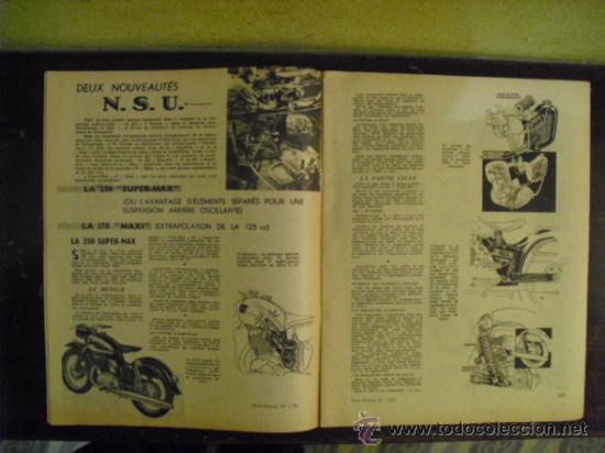Coches y Motocicletas: MOTO REVUE Nº 1.321 - 1956 - PRUEBA N.S.U. 250 SUPER-MAX - - Foto 2 - 34376103