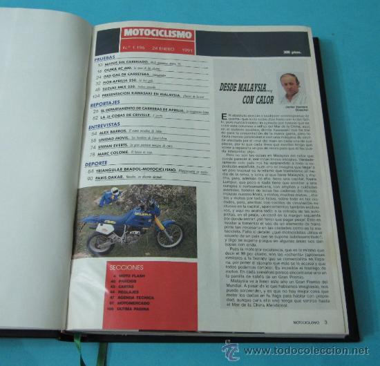 TOMO ENCUADERNANDO LA REVISTA MOTOCICLISMO Nº1196, Nº1194, Nº1193, Nº1191, Nº1187, Nº1185, Nº1184 (Coches y Motocicletas - Revistas de Motos y Motocicletas)