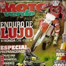 Coches y Motocicletas: MOTO VERDE Nº 323 AÑO 2005 EDICION 6. Lote 35463400