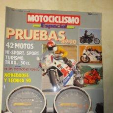 Coches y Motocicletas: REVISTA MOTOCICLISMO ESPECIAL PRUEBAS 1989 1990. Lote 35497695