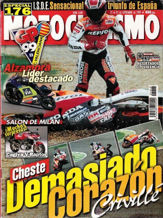 MOTOCICLISMO - 1999 - CHESTE (Coches y Motocicletas - Revistas de Motos y Motocicletas)