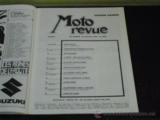 Coches y Motocicletas: MOTO REVUE Nº 1990 - AÑO 1970 - PRUEBA BMW R50/5 - - Foto 2 - 35605932