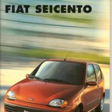 Coches y Motocicletas: CATÁLOGO DE ACCESORIOS FIAT SEICENTO. Lote 35604309