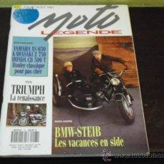 Coches y Motocicletas: MOTO LEGENDE Nº 27 - PRUEBA TRIUMPH - BMW STEIB -. Lote 35884996