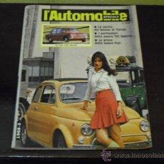 Coches y Motocicletas: L'AUTOMOBILE SPECIALE - 1968 - FIAT 500 L - FIAT 125 - FIAT 124 SPORT COUPÉ -. Lote 35919157