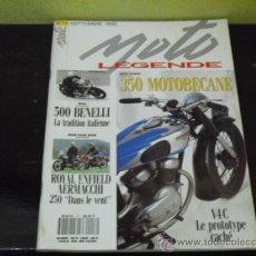 Coches y Motocicletas: MOTO LEGENDE Nº 17 - PRUEBA GUZZI 250 SS 1931 - BENELLI 500 - AERMACCHI-ROYAL ENFIELD -. Lote 36168804