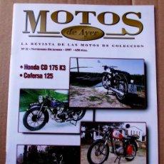 Coches y Motocicletas: REVISTA MOTOS DE AYER Nº 11. Lote 46772915
