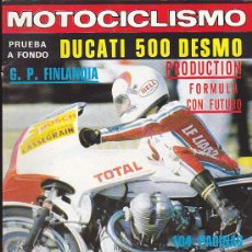 Coches y Motocicletas: REVISTA MOTOCICLISMO EXTRA AGOSTO 1978. Lote 36486724