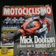 Coches y Motocicletas: MOTOCICLISMO Nº 1747 - AGO 2001 - HARLEY DAVIDSON VROD 1000 / DUCATI MONSTER S4 / YAMAHA R1 / DOOHAN. Lote 36622551