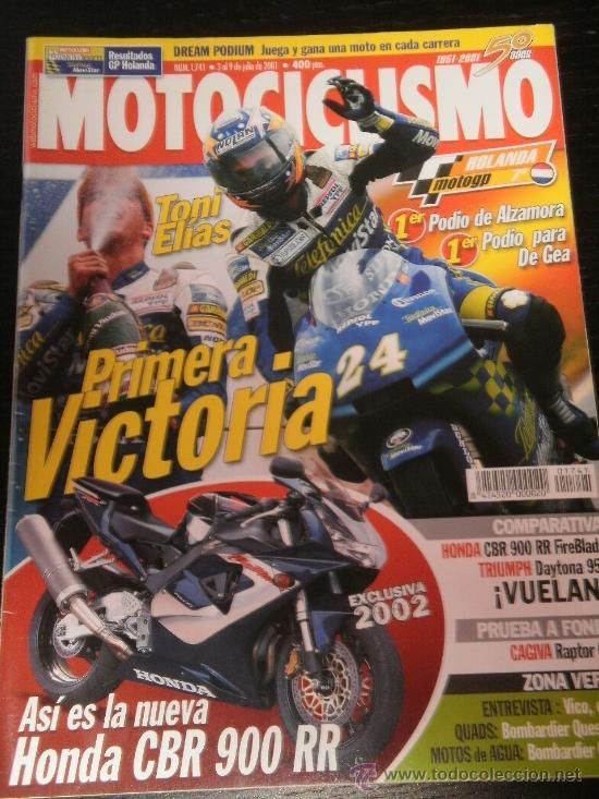 MOTOCICLISMO Nº 1741 - JUL 2001 - HONDA CBR 900 RR / TRIUMPH DAYTONA 955 / CAGIVA RAPTOR 650 / ASSEN (Coches y Motocicletas - Revistas de Motos y Motocicletas)