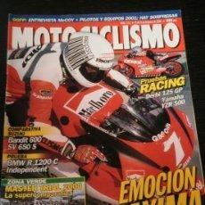Coches y Motocicletas: MOTOCICLISMO Nº 1713 - DIC 2000 - BMW R 1200 C / SUZUKI BANDIT 600 / DERBI 125 GP / YAMAHA YZR 500. Lote 36622965
