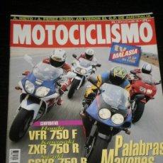Coches y Motocicletas: MOTOCICLISMO Nº 1363 - ABR 1994 - HONDA VFR 750 F / KAWASAKI 750 R / SUZUKI GSXR 750 R / YZF 750 R. Lote 36645621