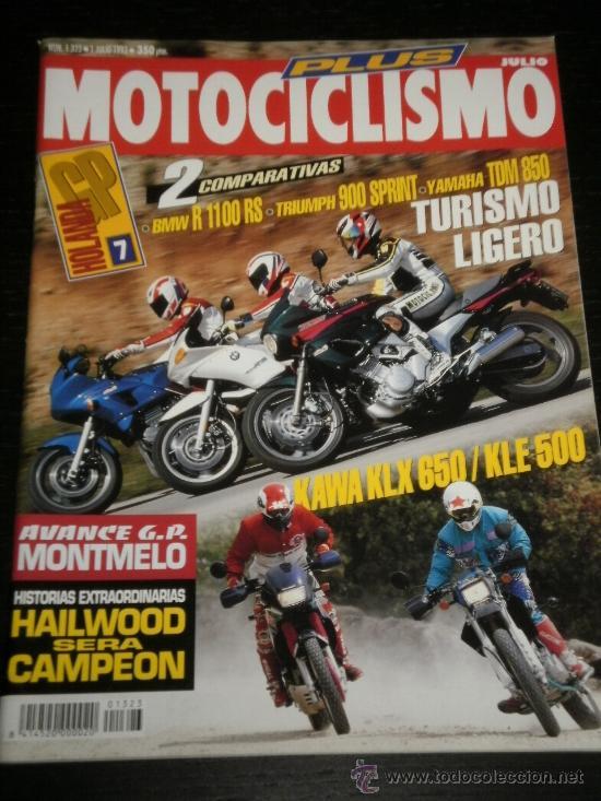 MOTOCICLISMO Nº 1323 - JUL 1993 - BMW R 1100 RS / TRIUMPH 900 SPRINT / YAMAHA TDM 850 / KAWA KLX 650 (Coches y Motocicletas - Revistas de Motos y Motocicletas)