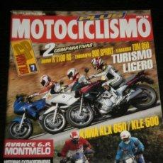 Coches y Motocicletas: MOTOCICLISMO Nº 1323 - JUL 1993 - BMW R 1100 RS / TRIUMPH 900 SPRINT / YAMAHA TDM 850 / KAWA KLX 650. Lote 36646214