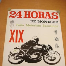 Coches y Motocicletas: CARTEL 24 HORAS DE MONTJUICH 24 HORAS DE MONTJUIC 1973. Lote 36719279