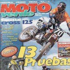 Coches y Motocicletas: REVISTA MOTO VERDE Nº 239 AÑO 1998. COMPARATIVA: HONDA XR 400, HUSABERG FE 400, HUSQVARNA TE 400. Lote 36782535