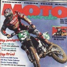 Coches y Motocicletas: REVISTA MOTO VERDE Nº 225 AÑO 1997. PRUEBA: HONDA CRE 250. HUSQVARNA TE 610 (97). . Lote 102333692