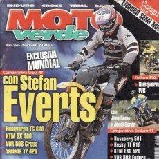 Coches y Motocicletas: REVISTA MOTO VERDE Nº 258 AÑO 2000. PRUEBA: HUSQVARNA WR 250. BETA REV 3. COMP: HUSQVARNA TC 610 Y. Lote 36788081