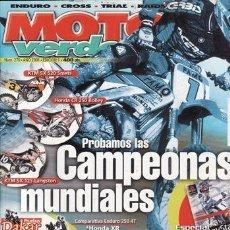 Coches y Motocicletas: REVISTA MOTO VERDE Nº 270 AÑO 2001. COMPARATIVA: HONDA XR 250 Y YAMAHA TTR 250. RACING: KTM SX 520 S. Lote 143167142